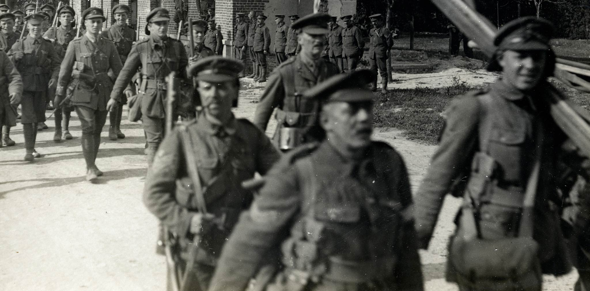 army marching towards western front